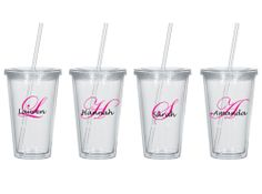 16oz Personalized Tumbler with Straw and Lid, Sold Individually $7.00