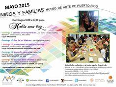PUERTO RICO ART NEWS: Calendario de Actividades Mayo 2015 para Niños y F...