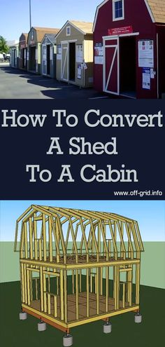 """If you don't have the time or skills to construct a cabin from scratch - and if you balked at the idea of a super-expensive """"tiny house"""". then this video will surely appeal to you. Off Grid Tiny House, Shed To Tiny House, Off Grid Cabin, Tiny House Cabin, Shed Cabin, Diy Cabin, Cabin Ideas, Off Grid Communities, Converted Shed"""