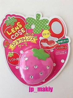 Strawberry Contact Case Mirror Refill bottle Set Japan F/S Soft-only Cute Kawaii
