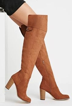 Over-the-Knee Faux Suede Boots | Forever 21 #stepitup