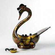 Khokhloma Swan with Ladles