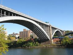 The Washington Bridge spans the Harlem River and connects the West Bronx and Washington Heights, Manhattan; It was opened on December 1st, 1888.