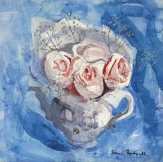 Anne Redpath, Still Life of Roses in a Teapot