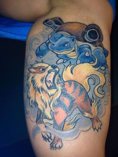awesome gyarados tattoo seen on reddit things i like pinterest tattoo and bison tattoo. Black Bedroom Furniture Sets. Home Design Ideas