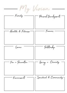 Life Coaching Videos Become A Referral: 3926917189 Vision Board Template, Vision Board Ideas Diy, Life Plan Template, Goals Template, Bujo, Creating A Vision Board, Goal Planning, Journal Prompts, Journals