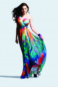 colorful gown - 6708