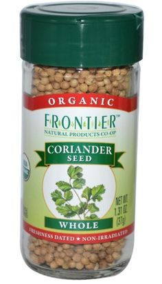 Frontier Organic Whole Coriander Seed