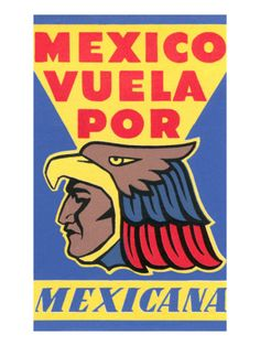 Vintage Mexicana Poster