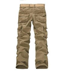 4 Colors 2015 Summer Mens Fashion Military Multi Pocket Cargo Pants Casual