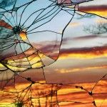 Photographs of Sunsets as Reflected through Shattered Mirrors by Bing Wright-Just gorgeous! Check it out!