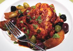 Roasted Chili Citrus Chicken Thighs with Mixed Olives and Potatoes - Bon Appétit