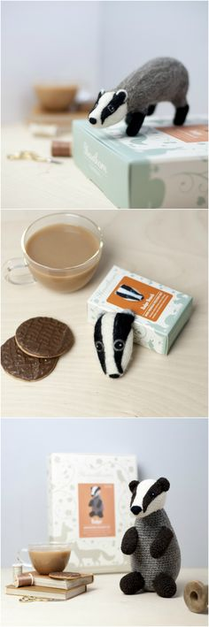 Our Badger Range! Complete Craft Kits from Hawthorn Handmade. Photo Credits: Holly Booth.