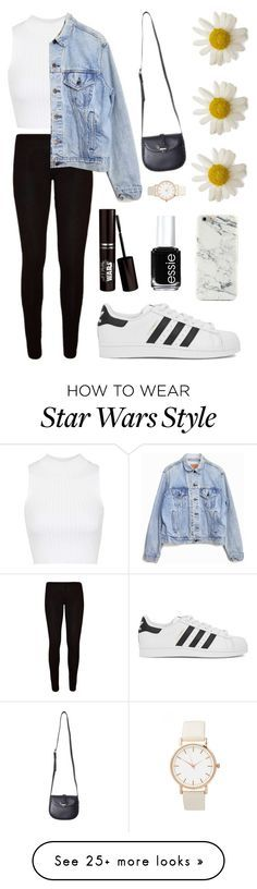 """내 스타일"" by soohyuk on Polyvore featuring Topshop, Levi's, adidas Originals and Essie"
