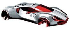 Car Design Sketch, Car Sketch, Car Illustration, Futuristic Cars, Car Drawings, Porsche Design, Car Wheels, Transportation Design, Automotive Design