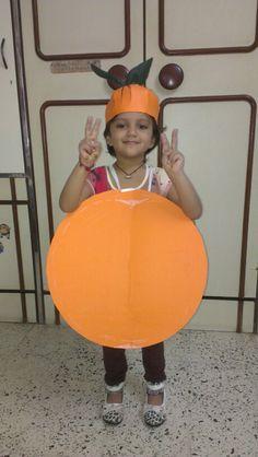 Orange costume closed
