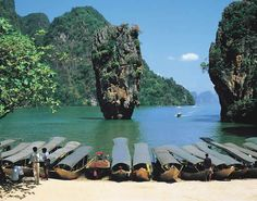 James Bond Island, Phuket, Thailand (it's the real island, but without the photo-shopped castle) Phuket Thailand, Thailand Travel, Thailand Vacation, James Bond Island Thailand, Places Around The World, Around The Worlds, Phuket Airport, Best Travel Deals, Koh Tao