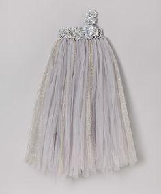 Look at this #zulilyfind! Silver Asymmetrical Blossom Dress - Infant, Toddler & Girls by Bébé Oh La La #zulilyfinds