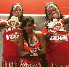 The Usos and Naomi
