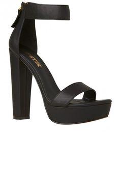 Lipstik Shoes - Believer Heel - Black | New Arrivals | Peppermayo