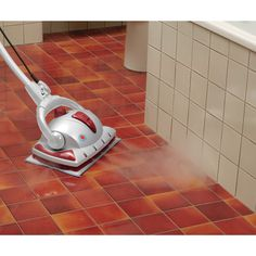 The Monster floor steam cleaner has a modern Italian design that is ideal for washing sealed hard surface floors and refreshing carpets and rugs, without theuse of harsh chemical-based cleaners.