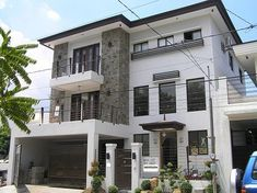 Two-Story House with Balcony | Architecture & Interior | Pinterest on small modern contemporary homes, not so big house, small concrete house, small bungalow house plans, kinds of modern house,