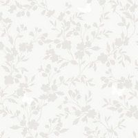 Fine Decor Saskia Wallpaper - Soft Grey