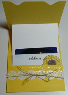Inside of a card made using the Envelope Punch Board