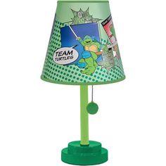 Colorful & Playful Design of Nickelodeon Teenage Mutant Ninja Turtles Retro Die Cut Child's Bedroom Lamp, Green Bedroom Lamps, Kids Bedroom, Bedroom Ideas, Theme Bedrooms, Boy Bedrooms, Bedroom Decor, Ninja Turtle Room, Turtle Table, Turtle Nursery