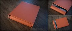 Graphistudio Orange Cloud Leatherette Matching Sleeve