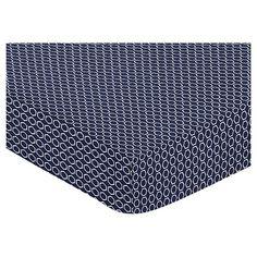 Sweet Jojo Designs Orange & Navy Arrow Fitted Crib Sheet - Hexagon Print : Target