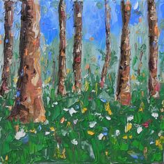 """Saatchi Online Artist: Matt Jenneson; Oil, 2012, Painting """"Summer Beech"""""""