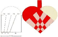 Braiding traditional Scandinavian Christmas hearts can be as simple as braiding two times two loops of paper into each other.  (found atfest-tips.dk) Or you can make it a bit more complicated a…