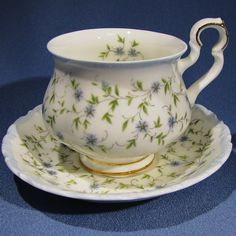 Royal Albert Caroline Tea Cup and Saucer Blue by Thinkilikeit