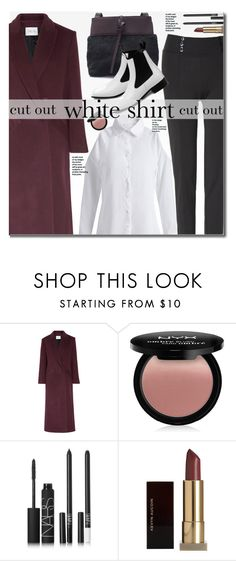 """""""Work Wear: Cut Out White Shirt"""" by beebeely-look ❤ liked on Polyvore featuring PALLAS, NYX, NARS Cosmetics, Kevyn Aucoin, WorkWear, whiteshirt, sammydress, cutoffs and chelseaboots"""