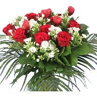 Funeral bouquet red white flowers  From: € 24.95