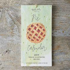 Pie Recipes 2017 Calendar