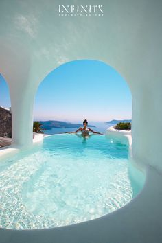 The Infinity Suite - Indoor and Outdoor heated plunge pools with jacuzzi - Dana Villas Santorini Hotel, Firostefani, Santorini, Greece | Book Online