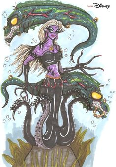 Twisted Disney Ursula by ~hellraptor. So cool!!!!