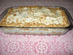 Marshmallow Fridge Tart: Mix 1 can condensed milk and half cup (add more for tangy tastes!) lemon juice. Add 1 can pineapple chunks - mix well. Add chopped marshmallows. Beat 1 box of Orley Whip (dairy free cream) very well - mix with rest of mixture. Pack Biscuits at bottom of dish and sides. Pour mixture over - sprinkle crushed biscuits over. In fridge. Delicious! For a tangy taste, add a little more than half a cup of lemon juice.