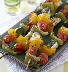 Brochettes de légumes - Recettes de cuisine Ôdélices
