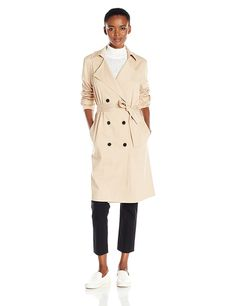 """One of the Historic and Classic Style outfit is """"Trench Coat"""". This is the only style, which can mix well with any attire. Formal, Semi formal or Party Wear Fall Fashion Outfits, Autumn Fashion, Trench Coat Style, Vest Jacket, Party Wear, Coats For Women, Women's Coats, Lucca, Stylish"""