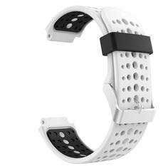 Garmin Forerunner 235 Watch Band, MoKo Soft Silicone Replacement Watch Band for Garmin Forerunner 235 / 220 / 230 / 620 / 630 / 735 Smart Watch - White & Black