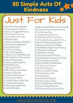 Get this FREE Printable with 50 Random Acts of Kindness For Kids (ad). All ideas are free & are simple enough for children to do on their own. # kindness activities for kids Random Acts Of Kindness For Kids Kindness Projects, Kindness Activities, Activities For Kids, Teaching Kindness, Religion Activities, Teaching Empathy, Morning Activities, Movement Activities, Teaching Kids
