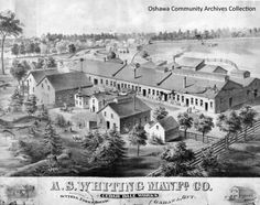 Whiting Manufacturing Co., from the Oshawa Community Archives Ontario, Canada, Community, Mansions, Park, History, Street, House Styles, City