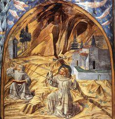 GOZZOLI, Benozzo Scenes from the Life of St Francis (Scene 11, south wall) 1452 Fresco, 270 x 220 cm Apsidal chapel, San Francesco, Montefalco by renzodionigi, via Flickr