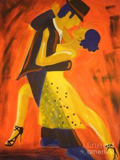 Argentine Tango  Painting  - Argentine Tango  Fine Art Print