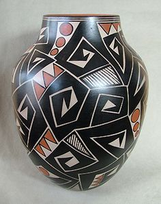 Andrews Pueblo Pottery: Native American Art including Hopi, Maria Martinez black pots, beadwork and Doug West.