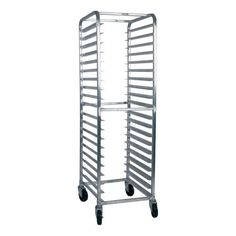 "Win-Holt S/S Full Height Mobile Pan Rack by Win-Holt. $669.99. Win-Holt S/S Full Height Mobile Pan Rack This side loading pan rack rolls easily on heavy duty swivel stem casters.Model #: SS-2620B Material: Stainless Steel Capacity: 20 trays Tray size: 18"" x 26"" Side loading Wheel diameter: 5"" Bearing: Ball Tread width: 1-1/4"" Wheel type: Polyurethane Runner spacing: 3"" Height: 69-3/4"" Width: 28"" Length: 18"" Weight: 97 lbs 476294"