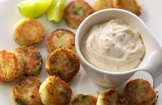Mini Potato Cakes with Creamy Chilly Philly Dipping Sauce